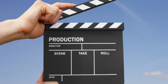 Hollywood Film Production Clapper Board