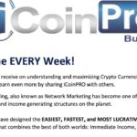 iCoin Pro Business Opportunity Summary May 25, 2017