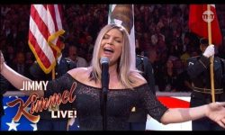 Jimmy Kimmel on His Reaction to Fergie's National Anthem